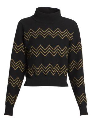 Ala A Nazare Lurex Zig Zag Sweater