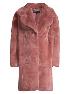 0ca771ffaffa Rex Rabbit Fur Coat ROSE. QUICK VIEW. Product image