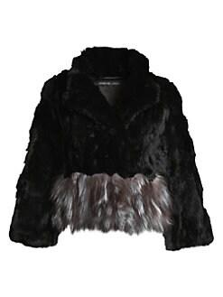 9239fcb06675 Adrienne Landau. Rex Rabbit Fur ...