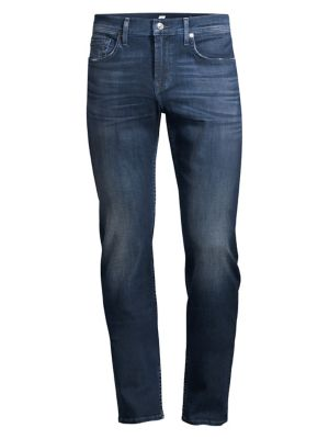 7 For All Mankind The Straight Suave Jeans In Blue
