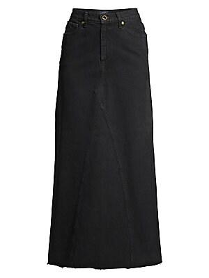 Magdelena Denim Maxi Skirt by Khaite