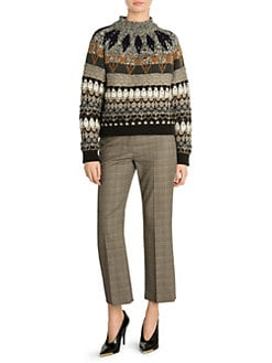 9b5c1e92 Stella McCartney. Fair Isle Mockneck Sweater