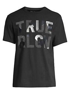 eee84370f QUICK VIEW. True Religion. Rubber Metallic Tee