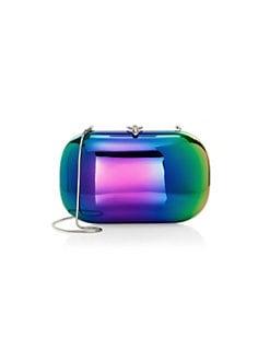 d6f668ab018 QUICK VIEW. Jeffrey Levinson. Elina Plus Mirrored Rainbow Clutch