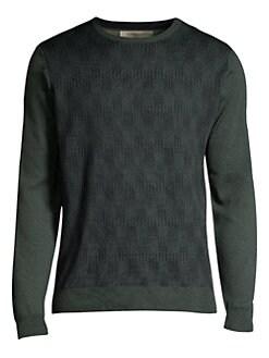 1208f0c4d12541 Corneliani. Jacquard Wool Sweater