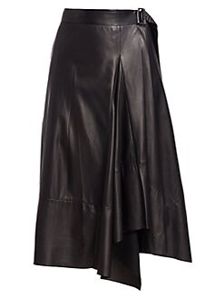 c3f38ad24c Asymmetric Leather Wrap Skirt BLACK. QUICK VIEW. Product image