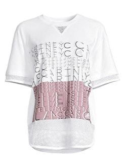 7818c428f adidas by Stella McCartney. Mesh Logo Tee