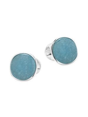 Cufflinks Inc Ox Bull Trading Co Sterling Silver Aquamarine Jade Cufflinks