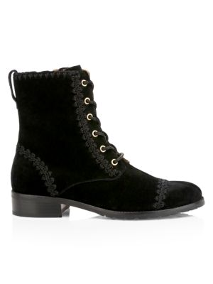 Gemma Suede Lace Up Booties