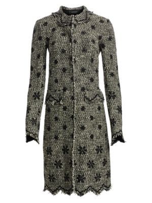 Giambattista Valli Floral Embroidered Tweed Coat