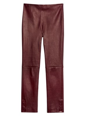 Theory Snap Leather Leggings