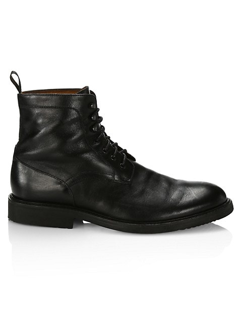 COLLECTION Leather Ankle Combat Boots