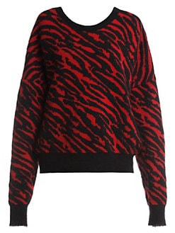 36c41d1f9 Product image. QUICK VIEW. Unravel Project. Chopped Zebra-Print Sweatshirt