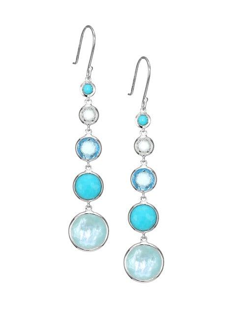 Lollipop Lollitini Sterling Silver & Multi-Stone 5-Drop Earrings