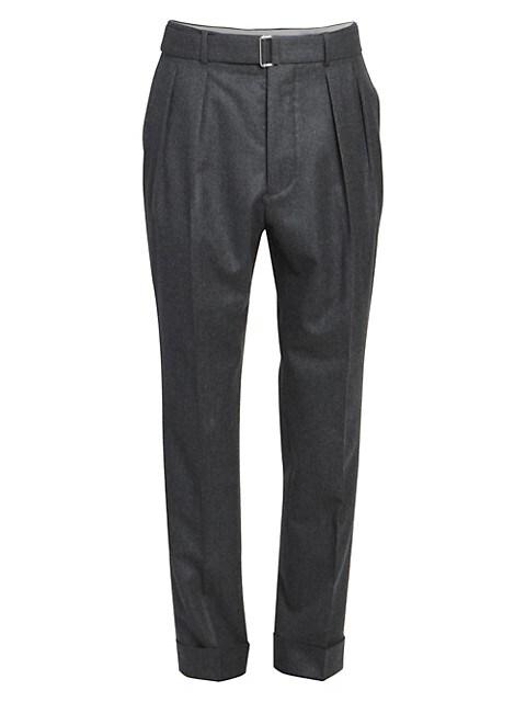 Pierre Pleated Cuffed Dress Pants