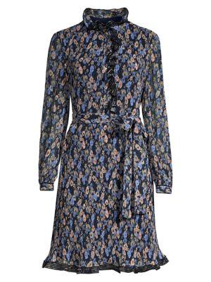 Tory Burch Deneuve Ruffle Trim Floral Dress