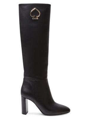 Kate Spade Boots Helana Knee-High Leather Boots