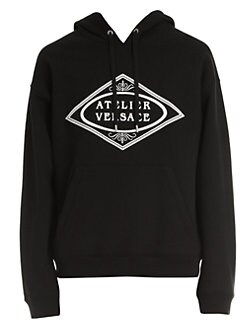 09f24361 Versace. Logo Hooded Sweatshirt
