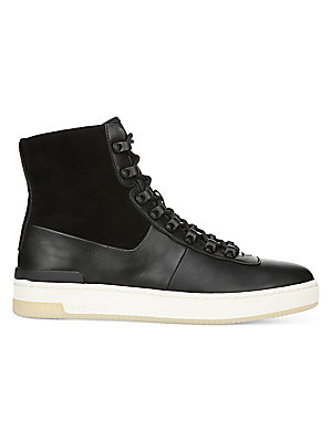49407237 Vince - Rowan Leather High-Top Sneakers