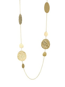 8b216049cbf0e5 Product image. QUICK VIEW. Ippolita. Classico Crinkled 18K Yellow Gold  Medium & Large Disc Necklace