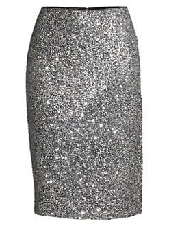 d6db5e1af0d3 QUICK VIEW. Escada. Rera Sequin Silk Pencil Skirt
