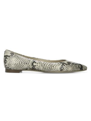 Sam Edelman Sally Python Embossed Leather Point Toe Flats