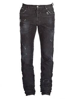 9a0eb2849b2 Dsquared2. Mercury Distressed Graffiti Jeans