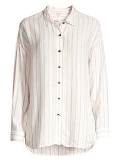 c2806724 Splendid. Dume Striped Button-Front Blouse