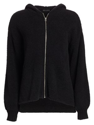 Atm Anthony Thomas Melillo Chenille Zip-Up Hoodie In Black
