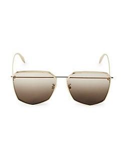 e7c45f9600f0 Product image. QUICK VIEW. Alexander McQueen. 61MM Brow Bar Sunglasses