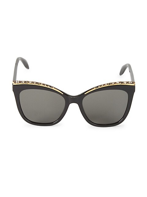 55MM Embellished Cat Eye Sunglasses