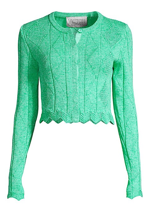Victor Glemaud Victor Glemaud Women's Cropped Scalloped Cardigan Mint Size XS from Saks Fifth Avenue   Daily Mail