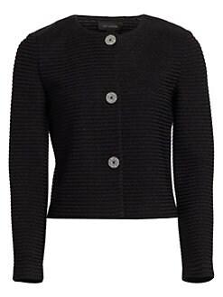 c26faf5c6 QUICK VIEW. St. John. Metallic Ottoman Knit Jacket