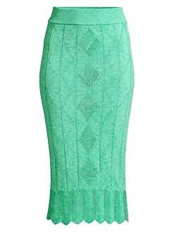 02c2554446a6 QUICK VIEW. Victor Glemaud. Crochet Midi Pencil Skirt