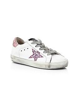 55a300855 Golden Goose Deluxe Brand. Baby's & Little Girl's Superstar Glitter Sneakers