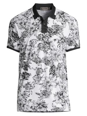 G Fore Floral Print Polo