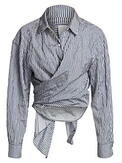 7d40e62c QUICK VIEW. Rosie Assoulin. Reversible Classic Tie Front Shirt