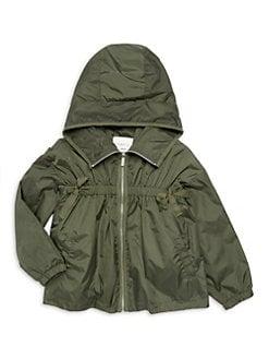 651bd979a Girl's Rayne Nylon Jacket DARK GREEN. QUICK VIEW. Product image