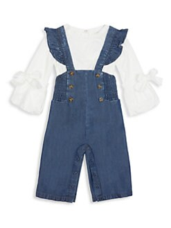 93032e8a3 QUICK VIEW. Habitual Girl. Baby's & Little Girl's Two-Piece Blouse & Denim  Overall Set
