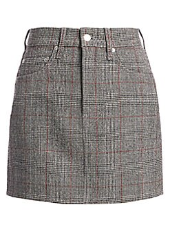 9a8c571ae Product image. QUICK VIEW. Helmut Lang. Femme Hi Plaid Virgin-Wool Mini  Skirt