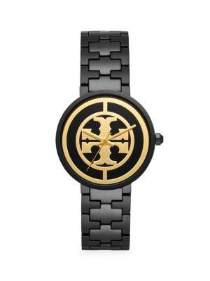 Tory Burch Lingerie Reva Black Stainless Steel & Bracelet Watch