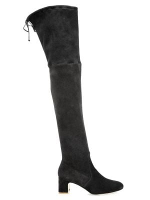 Stuart Weitzman Women's Kirstie Over-the-knee Suede Boots In Black