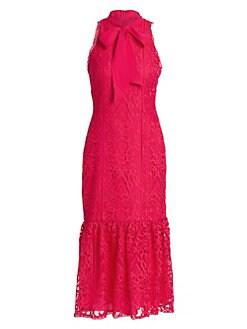 c4f970f762b25 Product image. QUICK VIEW. ML Monique Lhuillier. Bow-Tie Lace Dress