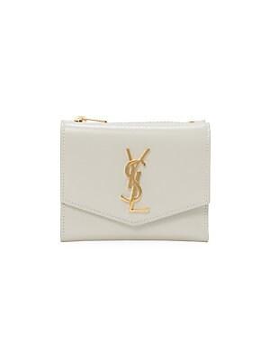 Short Monogram Flap Leather Wallet by Saint Laurent