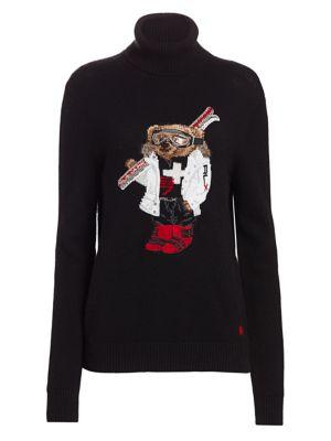 meilleur site web b86bd aef78 Ralph Lauren Collection - Ski Bear Cashmere Turtleneck ...