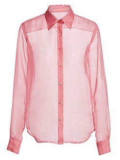 b1d5f60eae5275 Silk Organza Shirt PINK. QUICK VIEW. Product image