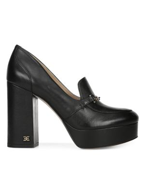 Sam Edelman Aretha Horsebit Leather Platform Loafers