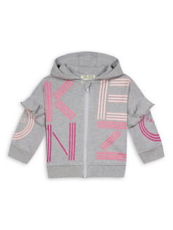 2f8e41af087a Product image. QUICK VIEW. Kenzo. Baby's & Little Girl's Logo Ruffled Zip  Sweatshirt