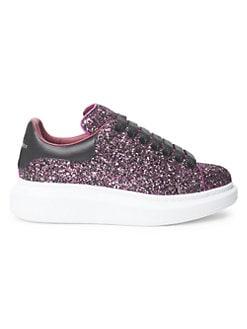 2293e46ad Product image. QUICK VIEW. Alexander McQueen. Glittered Leather Sneakers