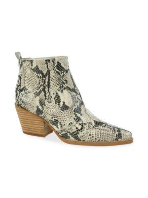 Sam Edelman Boots Winona Snakeskin Print Leather Booties